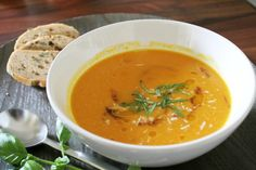 pumpkin-soup-1 Pumpkin, acorn, and tomato soup.... yum, this has parmesan and lots of other goodies in it, a fall favorite....your guests and family will LOVE it!