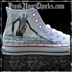 pink floyd converse | Pink Floyd The Wall Hand Painted Custom Converse Chuck Taylors ...