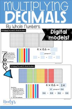 You can use technology and still teach conceptually using digital manipulatives! With this Google Slides resource, students will practice multiplying decimals by whole numbers using models. There are 20 slides containing digital manipulatives giving your students hands-on experience with multiplying decimals. Your 5th graders will love this interactive resource!