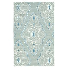 New Zealand wool rug with an ikat-inspired motif. Hand-tufted in India.    Product: RugConstruction Material: New Zea...