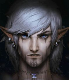 m Elf Rogue Thief Assassin portrait