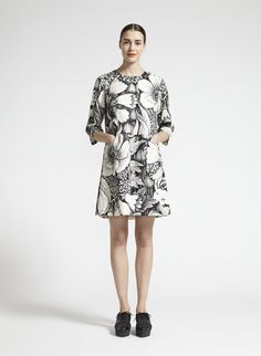 Marimekko Noia dress. This 1891 curated trend features sharp-shouldered silhouettes, precise layering and graphic illusion giving a nod to futurism, and adding up to a new kind of classicism. See more at: http://www.strandarcade.com.au/1891/curated-trends #strandarcade #1891 #monographic