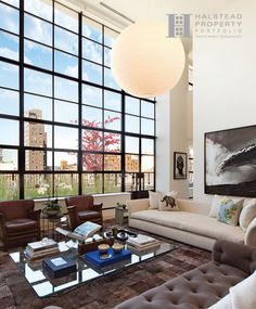 May 10th Release Date of Spring/Summer 2013 Halstead Portfolio Magazine. This Chelsea stunner was a joy to photograph. The brilliant light and sweeping panoramas from endless steel casement windows are the centerpiece of this stunning 3BR/3.5 bath duplex Penthouse loft floating high above the Highline Park in Downtown's ultra-cool West Chelsea Art District. #Chelsea #Manhattan #RealEstate #NYC #HighLine #NewYork #Portfolio #MagazineCover