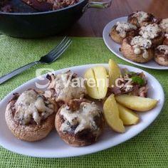 Plněné žampiony šunkou a nivou Baked Potato, Food And Drink, Potatoes, Baking, Ethnic Recipes, Treats, Sweet Like Candy, Goodies, Potato