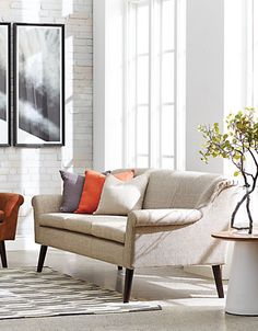 Home | Living Room | Graydon Sofa with gently curved narrow arms | Hudson's Bay