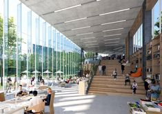 University Architecture, Library Architecture, School Architecture, Landscape Architecture, Interior Architecture, Landscape Design, Atrium Design, Facade Design, Public Library Design
