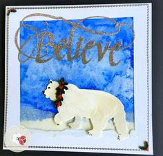 Susan Tierney-Cockburn of Susan's Garden Club created this perfect winter card using CountryScapes - Critters 4, CountryScapes - Backyard 4, Garden Notes - Holiday Holly & Berries, Quietfire Design - 'Believe', Silk Microfine Glitter, and Peel-Off Stickers. Find the supplies here: http://www.elizabethcraftdesigns.com/