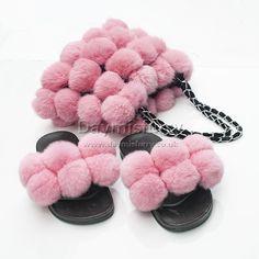 £44.00 #ootd #fur #bag #furbag #pompom #furpompom #slipper #furslipper #slides #furslides #womenswear #womenfashion #womenstyle #ladyfashion #ladystyle #ladyoutfit #accessory #handmade #boutique #boutiquefashion #londonfashion #londonstyle #gift #giftforher #rabbitfur #set #new Pom Pom Garland, Fur Pom Pom, Pom Poms, Boutique Fashion, Fur Bag, Ootd, Rabbit Fur, Fur Slides, Lady