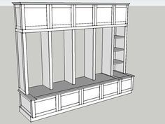 Builds up to 16000 Carpentry Projects - Building Plans for Mud Room Lockers Mudroom Laundry Room, Mud Room Lockers, Built In Lockers, Mudroom Cubbies, Wood Lockers, Reno, Custom Cabinets, Custom Furniture, Furniture Plans