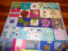 Busy Quilt with pockets and zippers