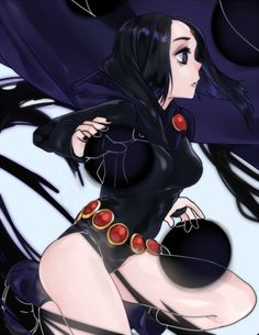 Raven bei den Teen Titans im Manga-Stil Teen Titans Go, Teen Titans Fanart, Dc Comics Art, Comics Girls, Marvel Dc Comics, Raven Fanart, Marshmello, Starfire And Raven, Robin