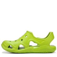 58eb7974605986 Crocs Kids  Swiftwater Wave Sandal Toddler Preschool Shoes (Volt Green) -  11.0