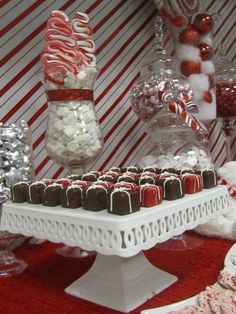 """Photo 6 of 8: Red and White, Candy Cane / Christmas/Holiday """"Office Candy and Dessert Buffet"""" 