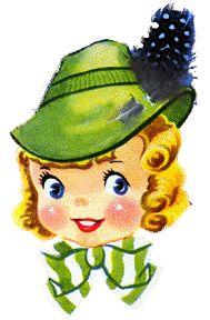 Terrific hat! #cute #vintage #illustrations