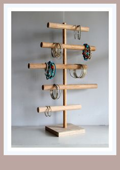 Large Bracelet Holder Asymmetrical Jewelry Organizer Jewelry Display Stand Craft Show Retail Rack Mens Watch Holder Headband Holder Jewelry Display Stands, Jewelry Stand, Jewelry Holder, Diy Jewelry, Jewelry Box, Jewelry Rack, Jewelry Tree, Earring Holders, Wolf Jewelry
