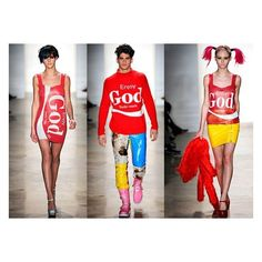 Jeremy Scott punks fashion with fast food Moschino collection ❤ liked on Polyvore