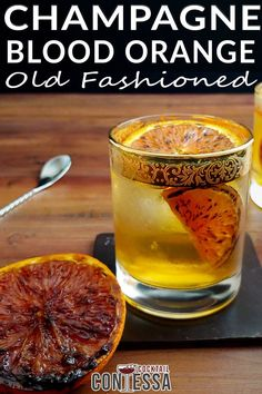 This Champagne Blood Orange Old Fashioned came together because I was dying to try out some new champagne simple syrup I'd made from a bottle I hadn't finished. I know. Travesty. I hate for any distilled spirit to go to waste, and using the last bits of a bottle to make a quick simple syrup was the perfect solution.   @cocktailcontessa #bourboncraftcocktails #holidaycocktails #holidaypartycocktails #craftcocktails #wintercocktails #cocktailparty #champagnecocktails Bourbon Cocktails, Winter Cocktails, Craft Cocktails, Cocktail Recipes, Blood Orange Cocktail, Champagne Cocktail, Cocktail Ingredients, Old Fashioned Cocktail, Cocktail Making