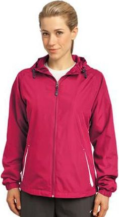 Sport-Tek Women's Colorblock Hooded Raglan Jacket >>> To view further for this item, visit the image link.