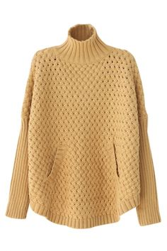 Solid Braided Pattern #Knit #Sweater - OASAP.com★ 21% off Coupon Code: Pumpkin ❀ Ends on Nov.1st.