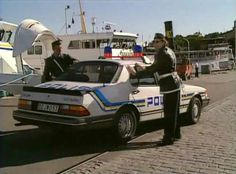 Saab 900 classic Police Vehicles, Emergency Vehicles, Police Cars, Police Officer, Swedish Police, Sax Man, Saab 900, Fuzz, Law Enforcement