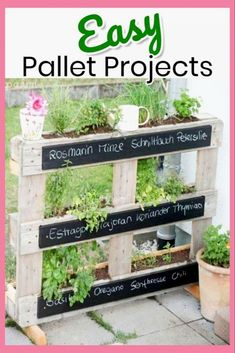 Simple and Creative Pallet Project Ideas and Instructions – Lots of easy DIY pallet projects for indoors or outdoors… pallet furniture, garden decor, kitchen decorations, shelves, signs and more…More #diypallet #diyhome
