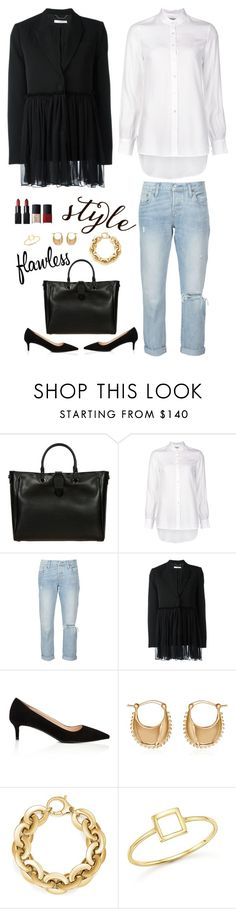 """""""Classic Twist"""" by musicfriend1 ❤ liked on Polyvore featuring Bric's, Frame, Levi's, Givenchy, Prada, Magdalena Frackowiak, Bloomingdale's, Mateo and NARS Cosmetics"""