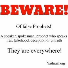 @uriyahu_ban_yashraal - The Word is a witness. Destroy not yourself following after doctrines of and commandments of men. YAHUSHA warned us constantly to watch these people. Take heed.  Matthew 24:11 And many false prophets shall rise and shall DECEIVE MANY.  Mark 13:22 For false anointed ones and false prophets shall rise and shall show signs and wonders to SEDUCE if it were possible even the elect.  2Timothy 3:13 But evil men and seducers shall wax worse and worse deceiving and being…