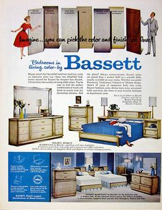 Bassett bedroom group by Leo Jiranek (1959)