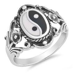 Silver Ring - Yin and Yang-$13.62