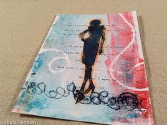 monotype print with trace monoprint accents