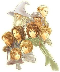 """Just when I thought Hobbits couldn't be more """"cute-sy""""... Someone had to George Lucas Ewok anime them."""