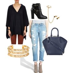 Untitled #19 by gsowa22 on Polyvore featuring Vince, Treasure & Bond, Valentino, Social Anarchy and Tory Burch
