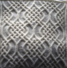 Celtic Motif (knot #79) by Devorgilla's Knitting  from her collection 'Celtic Knots for Knitting' ~ 250 patterns.  Pattern download for this pattern €1.50 EUR