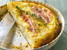 Découvrez la recette Quiche tatin sur cuisineactuelle.fr.