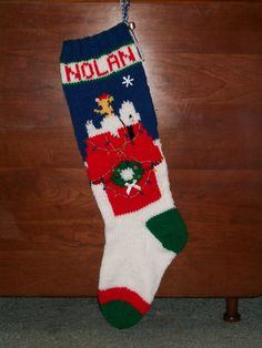 knit patterns for Christmas Stockings | knitted Personalized ...