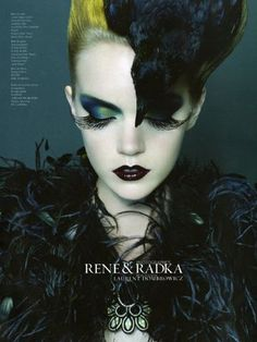 Bird Editorial by Rene & Radka with stunning makeup by Carole Lasnier