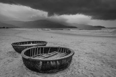 woven bamboo basket boats by Cheng Lo on 500px