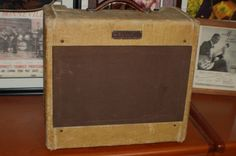 Today, Lawman Guitars is Presenting...  A fantastic sounding and looking 1954 Fender Model 5C3 Tweed Deluxe Amp. Breaks up after 4 and is super loud. Nothing by creamy tones from this one. I have two so one has to be shared! Give us a call. Lawman Guitars. 515-864-6136