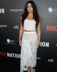 Demi Lovato looked gorgeous at 2017 Roc Nation Pre-Grammy brunch in LA