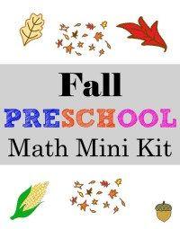 A few fall theme preschool math activities as well as a FREE preschool math mini kit. Fall Preschool Activities, Homeschool Kindergarten, Free Preschool, Preschool Classroom, Preschool Learning, Fun Learning, Free Math, Homeschool Curriculum, Homeschooling