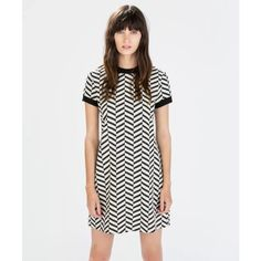 ✨NWT✨ Zara jacquard black & white striped dress NWT Zara jacquard black & white striped dress. Never worn, brand new with tags. 48% cotton, 43% polyester, 7% polyamide, 2% elastane. Size L; measurements: bust: 36in; length: 33.5in.   — no trades Zara Dresses