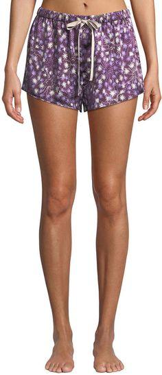Morgan Lane Dandelion Martine Silk Pajama Shorts bb5bd4b2a