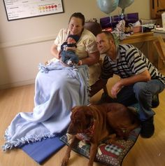 On Friday, April 13th, Laura Hulsing gave birth to Noah Fredrick Hulsing-Drymon who weighed 7 pounds, 13 ounces. This was no ordinary delivery,  Not only did Laura have her family and physician, Heidi Arnold, MD with her: Autumn, her companion and service dog, also welcomed Noah. View the comments section to read more!