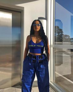 Cooles blaues Outfit Cool blue outfit Cooles blaues Outfit The post Cooles blaues Outfit appeared first on Berable. Edgy Outfits, Swag Outfits, Girl Outfits, Fashion Outfits, Runway Fashion, Summer Outfits, Style Fashion, Fashion Trends, Ropa Hip Hop