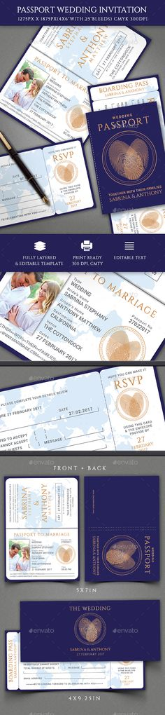 Wedding Invitation — Photoshop PSD #wedding #postcard • Available here → https://graphicriver.net/item/wedding-invitation/19390359?ref=pxcr