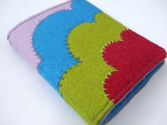 Deco-style needle book with felt applique by Very Berry Handmade, via Flickr