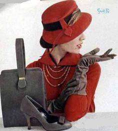 1950s womens' fashion.