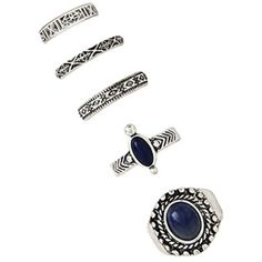 Forever 21 Faux Stone Ring Set ($5.90) ❤ liked on Polyvore featuring jewelry, rings, forever 21, stone jewelry, forever 21 rings, forever 21 jewelry and imitation rings