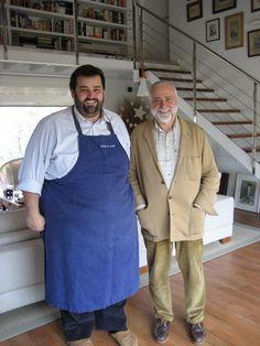 Con David de Jorge, en Gorritxenea, su casa de Jaizkibel, 5 de enero de 2007.