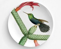A personal favorite from my Etsy shop https://www.etsy.com/listing/456198048/violet-bellied-botantical-bird-plate